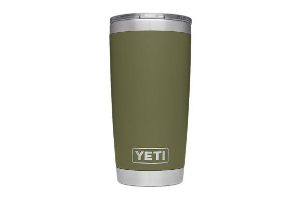 Large image of YETI Olive Green 20 Oz Rambler Tumbler  - 21070060015