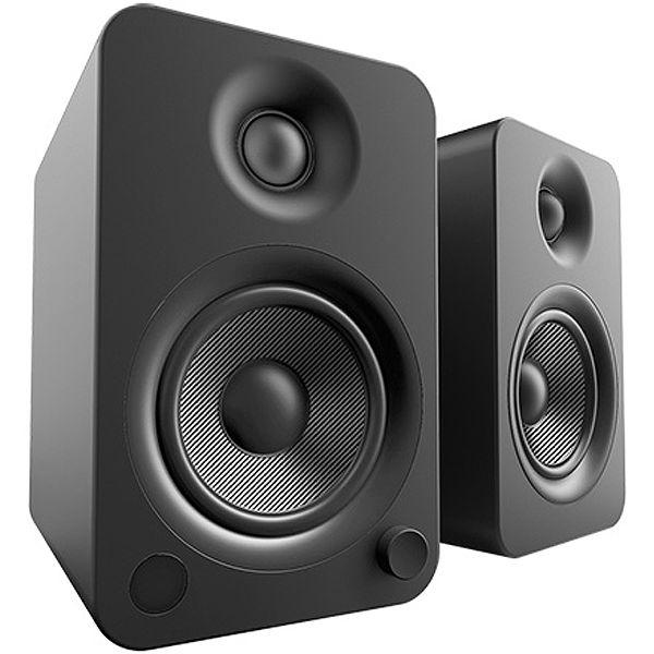 Kanto Yu4 Powered Matte Black Bookshelf Speakers Yu4mb