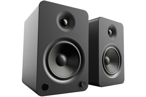 Large image of Kanto YU6 Powered Matte Black Bookshelf Speakers (Pair) - YU6MB