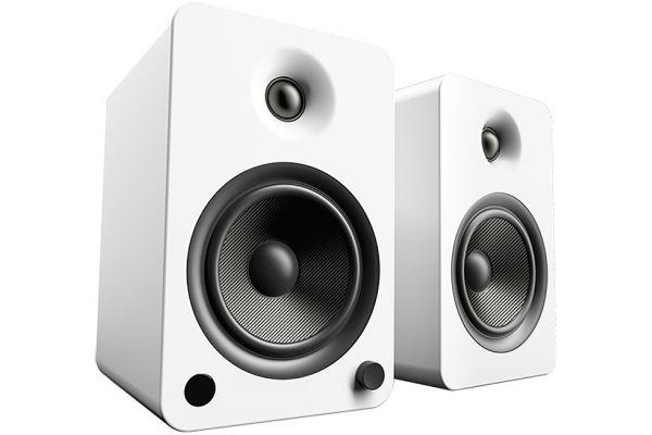 Large image of Kanto YU6 Powered Matte White Bookshelf Speakers (Pair) - YU6MW