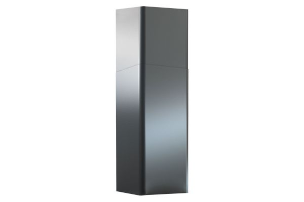 Large image of Zephyr 12 Ft. Black Stainless Steel Duct Cover Extension - Z1C00RVBS