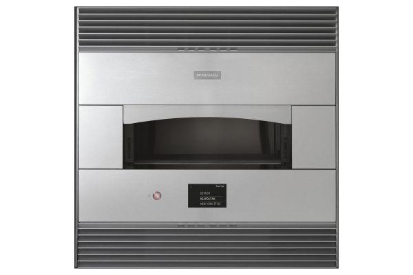 "Large image of Monogram 30"" Stainless Steel Flush Built-In Pizza Oven - ZEP30FLSS"