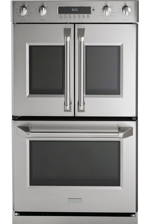 Ge Monogram 30 Professional French Door Convection Double Wall Oven Zet2flss