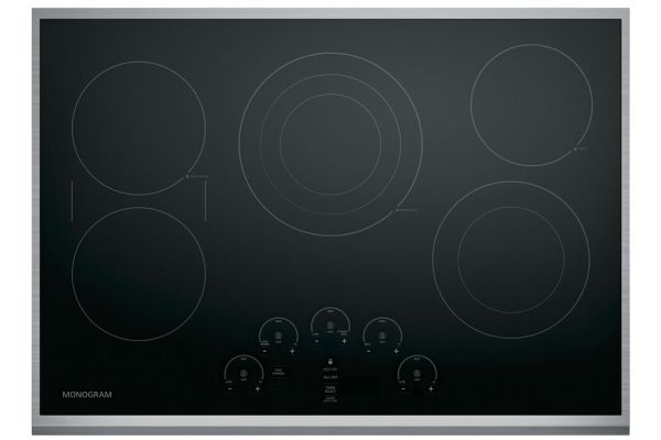 """Large image of Monogram 30"""" Stainless Steel Electric Cooktop - ZEU30RSJSS"""