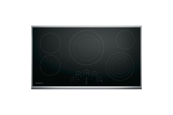 """Monogram 36"""" Stainless Steel Touch Control Electric Cooktop - ZEU36RSJSS"""