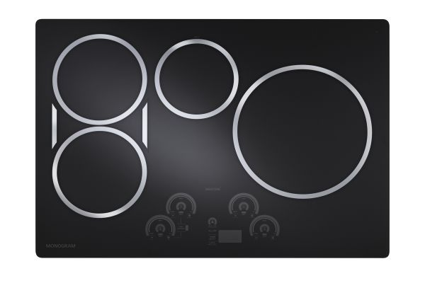 "Large image of Monogram 30"" Black Electric Induction Cooktop  - ZHU30RDJBB"