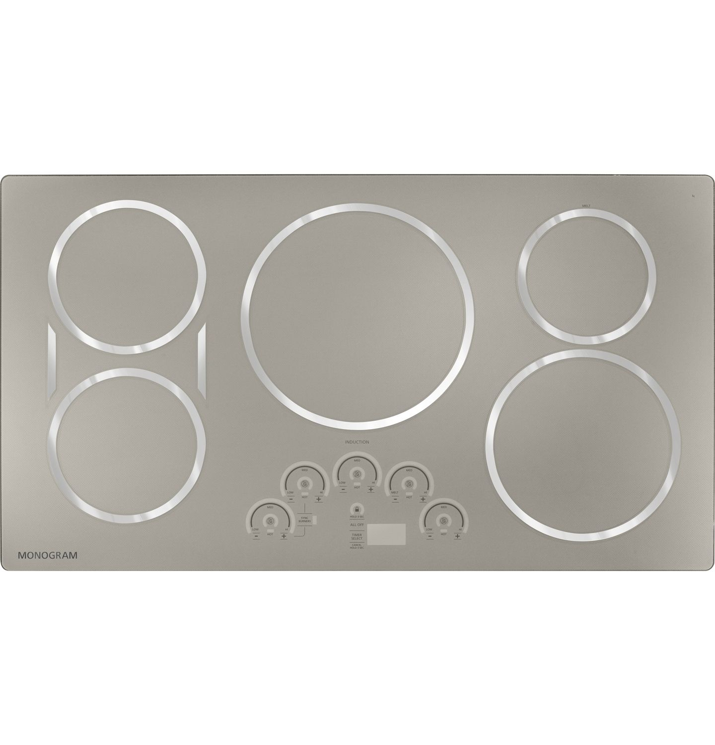 Monogram 36 Stainless Steel Electric Induction Cooktop Zhu36rsjss