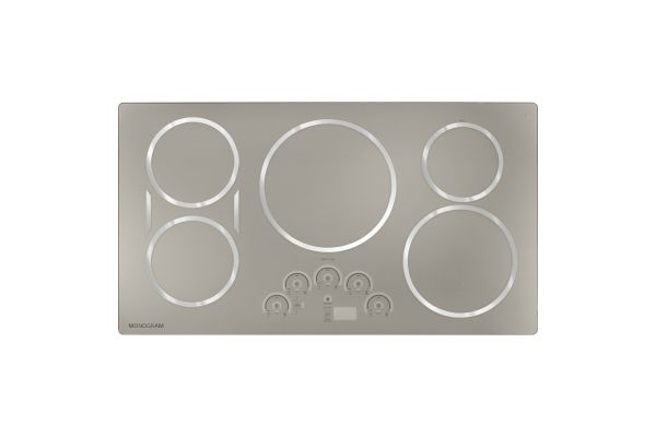 """Large image of Monogram 36"""" Stainless Steel Electric Induction Cooktop - ZHU36RSJSS"""
