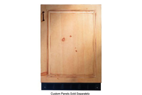 "Large image of Monogram 24"" Custom Panel Right-Hinge Bar Refrigerator With Icemaker - ZIBI240HII"