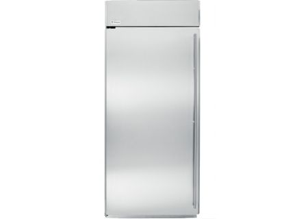 "Monogram 36"" Stainless Steel Built-In All Freezer - ZIFS360NHLH"