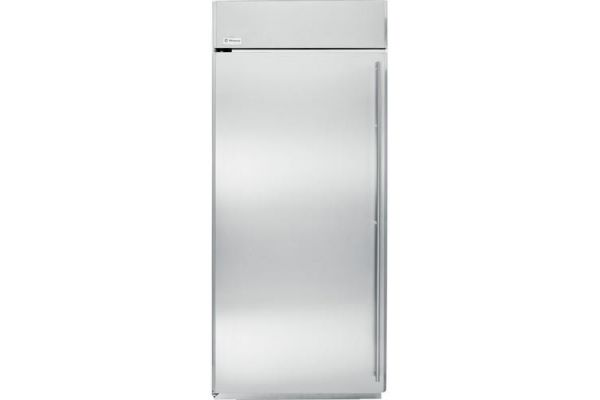 "Monogram 36"" Stainless Steel Left Hinge Built-In All Refrigerator - ZIRS360NHLH"