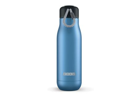 Zoku 18oz Metallic Blue Stainless Steel Bottle  - ZK142BL