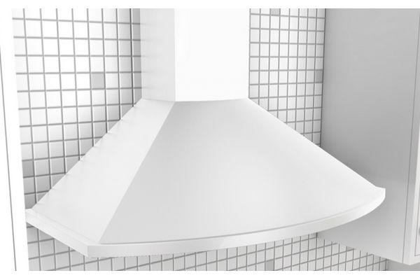 """Large image of Zephyr Savona 36"""" White Chimney Wall Hood  - ZSAM90CW"""