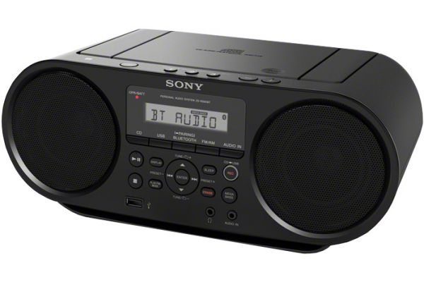 Large image of Sony Bluetooth Black CD Boombox - ZSRS60BT