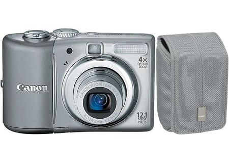 Canon - A1100ISGRAY KIT - Digital Cameras