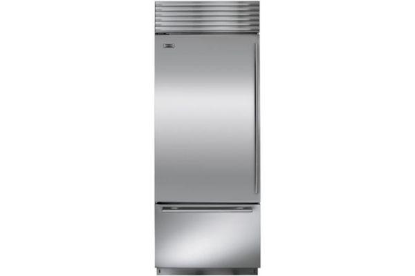 "Sub-Zero 30"" Left Hinge Stainless Steel Built-In Bottom Freezer Refrigerator - BI-30U/S/TH-LH"