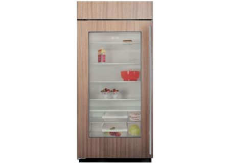 "Sub-Zero 36"" Built In All Refrigerator With Glass Door Overlay - BI-36RG/O"