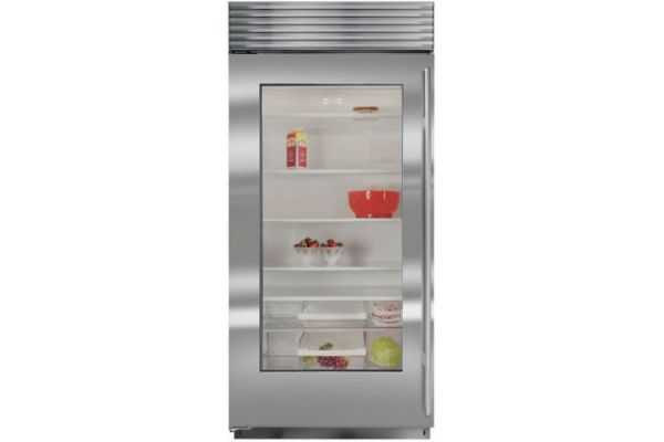 "Large image of Sub-Zero 36"" Stainless Frame Left-Hinge Classic Refrigerator - BI-36RG/S/TH-LH"