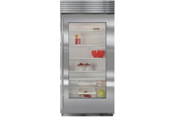 "Large image of Sub-Zero 36"" Stainless Frame Right-Hinge Classic Refrigerator - BI-36RG/S/TH-RH"