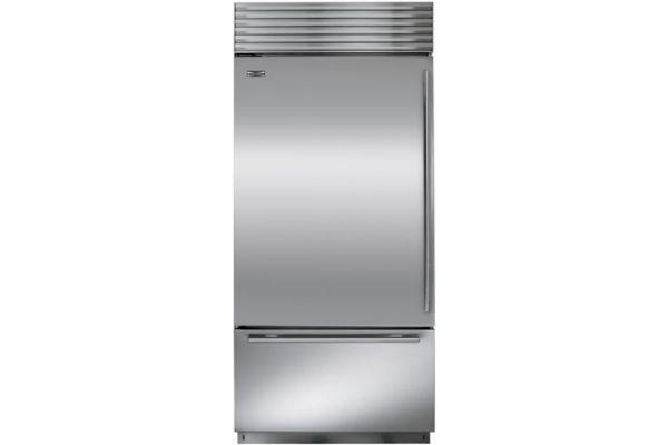 "Sub-Zero 36"" Stainless Steel Built-In Bottom Freezer Refrigerator - BI-36U/S/TH-LH"