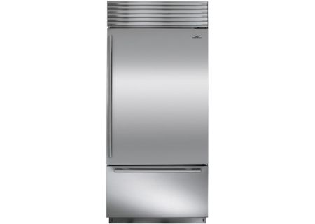 "Sub-Zero 36"" Stainless Steel Right Hinge Built-In Bottom Freezer Refrigerator - BI-36U/S/TH-RH"