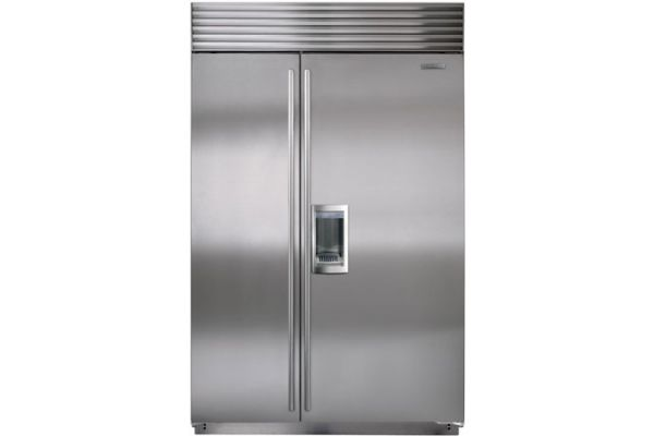 """Large image of Sub-Zero 48"""" Stainless Steel Classic Side-By-Side Refrigerator With Dispenser - BI-48SD/S/TH"""