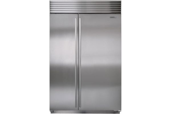 """Sub-Zero 48"""" Stainless Steel Built-In Side-By-Side Refrigerator - BI-48S/S/TH"""