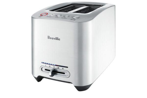 Breville Die-Cast 2-Slice Silver Smart Toaster - BTA820XL