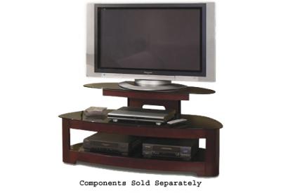 tech craft sorrento series mahogany tv stand bw25125m abt. Black Bedroom Furniture Sets. Home Design Ideas