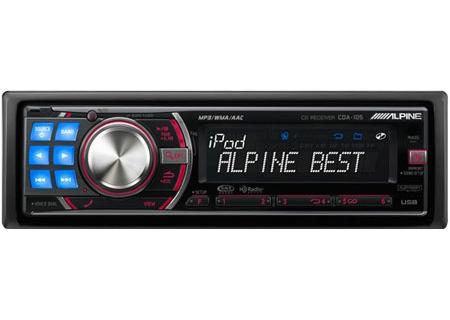 Alpine - CDA-105 - Car Stereos - Single DIN