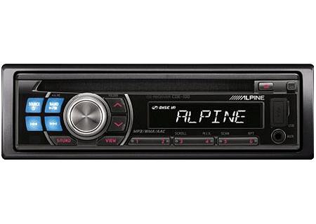 Alpine - CDE-100 - Car Stereos - Single DIN