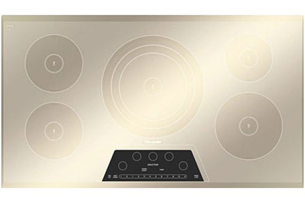 """Large image of Thermador 36"""" Masterpiece Series Silver Mirrored Electric Induction Cooktop - CIT365GM"""