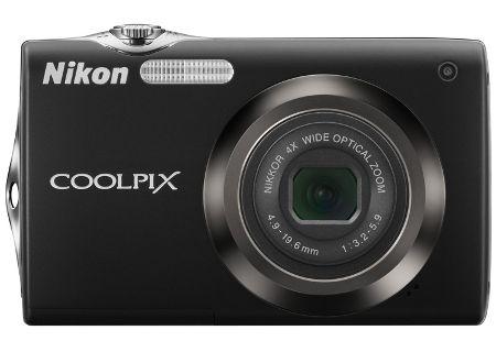 Nikon - COOLPIX S3000BLK - Digital Cameras