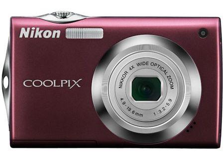 Nikon - COOLPIX S4000PLUM - Digital Cameras