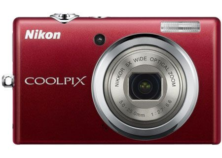 Nikon - COOLPIX S570RED - Digital Cameras