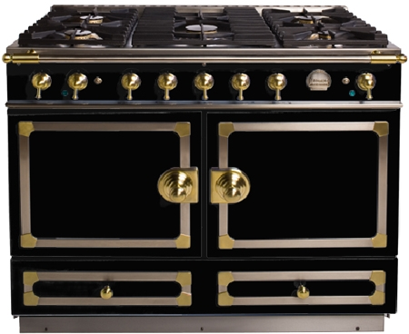 la cornue cornuf 110 43 dual fuel range in shiny black. Black Bedroom Furniture Sets. Home Design Ideas