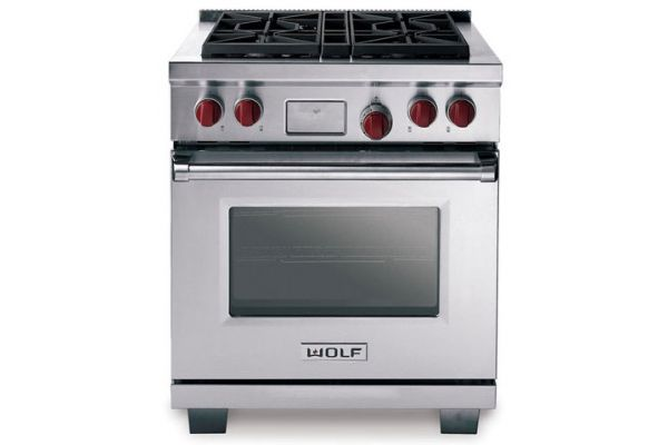 """Wolf 30"""" Dual Fuel Range - Stainless Steel Finish - DF304"""
