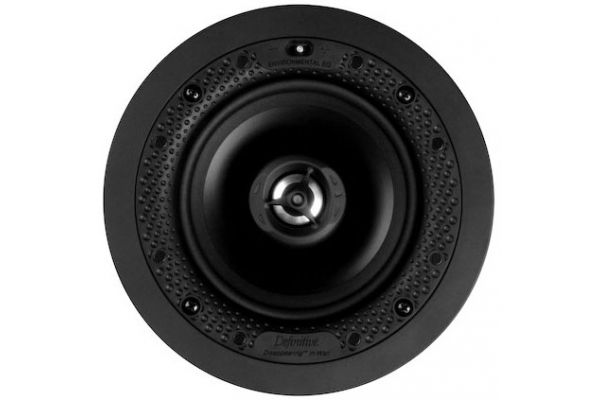 """Large image of Definitive Technology White Disappearing Series Round 5.5"""" In-Wall / In-Ceiling Speaker (Each) - UESA"""