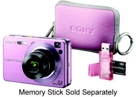 Sony Pink Cyber Shot Digital Still Camera Bundle - DSC-W120MDGP