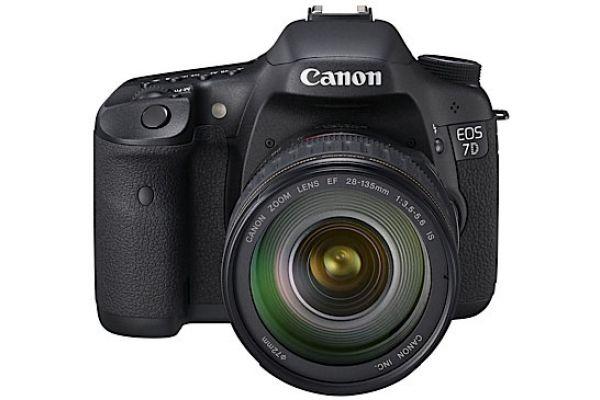 Canon EOS 7D Black 18 Megapixel Digital SLR Camera With Lens - EOS 7D 28135