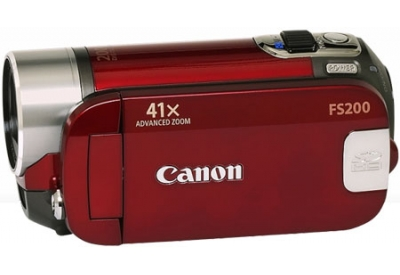 Canon - FS200 RED - Camcorders & Action Cameras