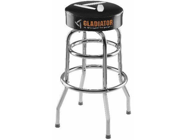 Astounding Gladiator Garageworks Black Finish Stool With Chrome Legs Uwap Interior Chair Design Uwaporg