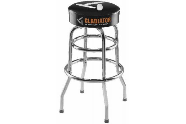 Gladiator Garageworks Black Finish Stool With Chrome Legs - GAAC30STPB