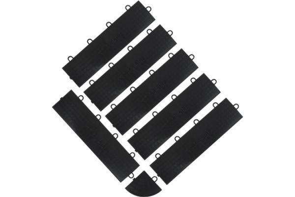 Large image of Gladiator Garageworks Black Female Edge Trim (6-Pack + 1 Corner) - GAFA06FEPB