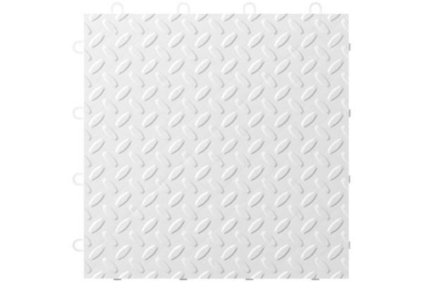 "Large image of Gladiator Garageworks 12"" x 12"" White Tile Flooring (24-Pack) - GAFT24TTTW"