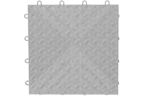 """Large image of Gladiator Garageworks 12"""" x 12"""" Silver Tile Flooring (48-Pack) - GAFT48TTPS"""