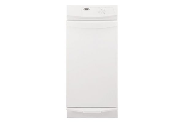 """Large image of Whirlpool 15"""" Under Counter Trash Compactor - White Finish - GC900QPPQ"""