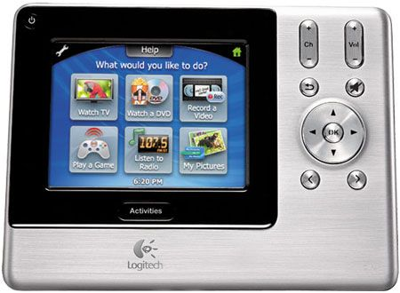 83938b0bac2 Logitech Harmony 1000 Silver Touch Screen Remote Control - 966230-0403