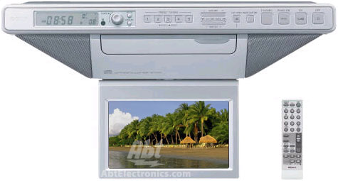 Sony Under Cabinet Kitchen Lcd Tv Am Fm Radio And Cd