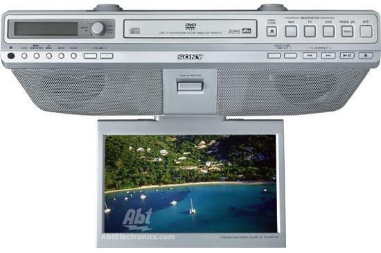Sony Under Cabinet Lcd Tv Dvd Cd Clock Radio Silver